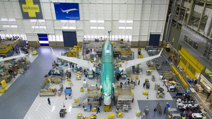 Boeing 737 MAX assembly