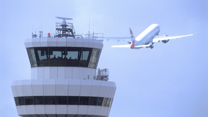 London's Gatwick airport suspends flights due to air traffic control problem