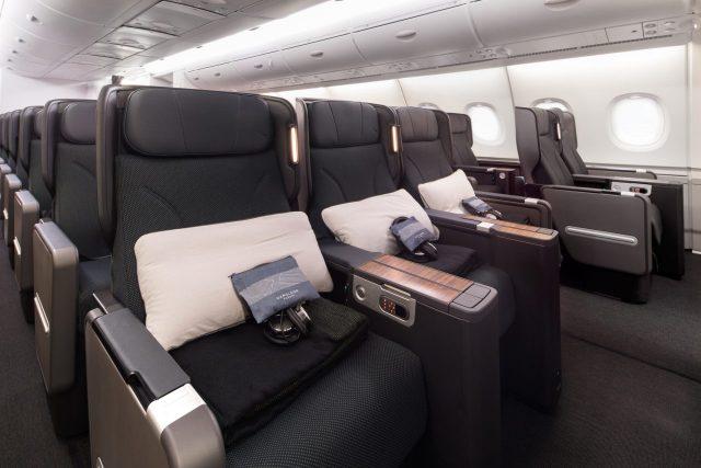 Qantas Airbus A380 cabin Premium Economy