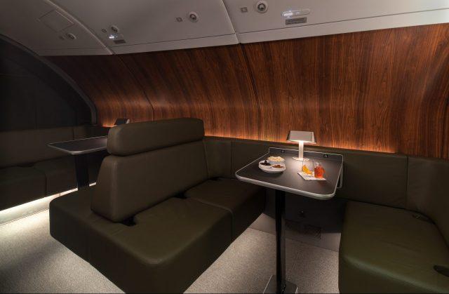 Qantas Airbus A380 cabin Lounge