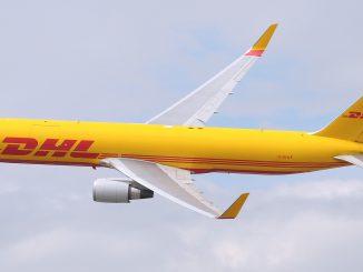 DHL Express Boeing 767-300 BCF freighter aircraft