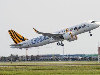 Tigerair Taiwan Airbus A320neo aircraft