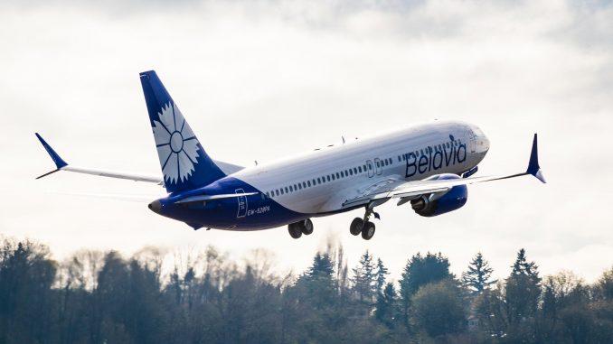 Belavia Boeing 737 Max aircraft