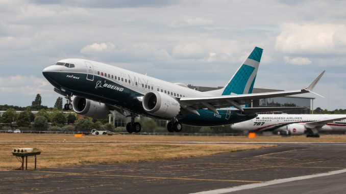 Boeing 737 Max 7 aircraft