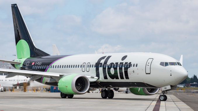 Flair Airlines Boeing 737 Max aircraft