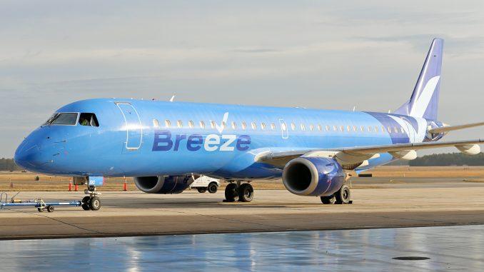 Breeze Airways Embraer aircraft