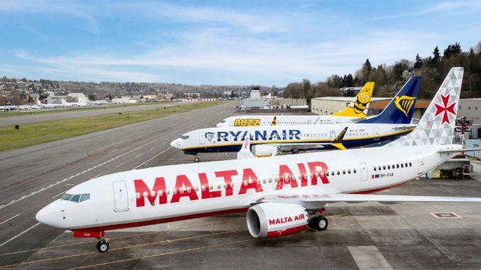 Ryanair Boeing 737 Max aircraft