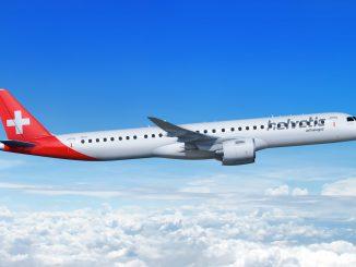 Helvetic Airways Embraer E195-E2 aircraft