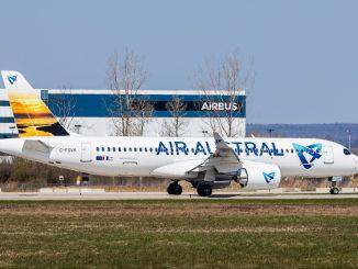 Air Austral Airbus A220 aircraft